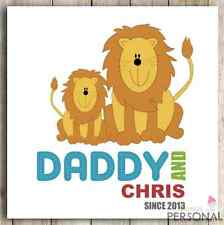 Personalised Dad Daddy Father Fathers Father's Day Birthday Gift Cute Lion Card