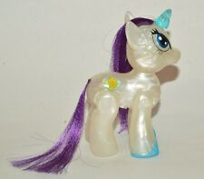 TOY MEXICAN FIGURE BOOTLEG MY LITTLE PONY WHITE WITH LIGHT BUTTON I