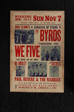 The Byrds 1965 Tour Poster Nashville Bo Diddley WE Five