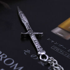 THE LORD OF THE RINGS LOTR HOBBIT Antique Sting Silver Sword Pendant Necklace