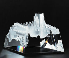 NEW in RED BOX STEUBEN glass CASTLE DREAMS fortress ornamental crystal with BASE