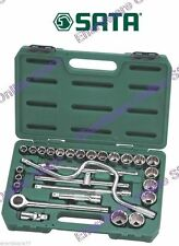"SATA 28pcs 1/2""DR Metric Socket Set 10-32mm (09090)"
