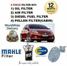 FOR FIAT BRAVO 1.9 MJTD 6/2007-  SERVICE KIT OIL AIR FUEL POLLEN FILTER KIT (4)
