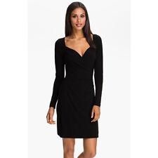 $105 NWT KAMALIKULTURE Norma Kamali XL Black Matte Jersey Sweetheart LBD Dress