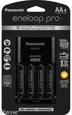 Panasonic Eneloop Pro Individual Cell Battery Charger AA Ni-MH Rechargeable (4pc