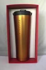 Starbucks Tangerine Stainless Steel Tumbler Venti-20 oz 2015 NWT! Red Box!