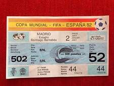 ENTRADA TICKET UNUSED WORLD CUP SPAIN 1982 WC82 ESPAÑA WEST GERMANY MATCH 44
