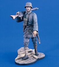 Verlinden 120mm (1/16) German Machine Gunner WWI Vignette with Base [Resin] 1998
