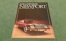 1979 CHRYSLER NEWPORT USA BROCHURE Anstead Motors West Virginia
