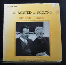 Beethoven / Brahms / Rubinstein / Szeryng - Violin Sonatas LP VG LSC-2620 3s/3s