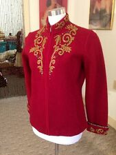 Exquisite Wool Embroidered/Sequined/Beads Icelandic Design Jacket/NWT