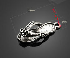 PJ1096  10pc Retro Tibetan Silver(slippers Pendant)Jewelry Accessories wholesale