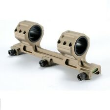 Large Caliber (BB) 30mm /1 inch Tactical Scope Rings Mount Heavy Duty Dark Earth