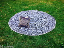 Indian Mandala Round Tapestry Throw Hippie Gypsy Beach Blanket Yoga Mat Boho New