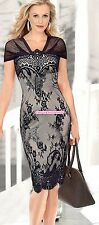 New Fashion Womens Shortsleeve Lace Bodycon Cocktail Evening Party Pencil Dress