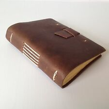 RUSTICO Good Book Leather Journals Diary Notebook Gifts Buckle Dark Brown