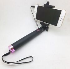 Mini Monopod Selfie Stick WIRED Remote FOLDABLE pocket Mobile Phone Holder