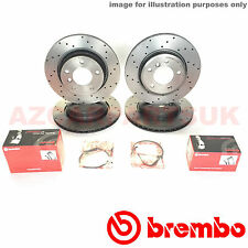 For Bmw E46 330ci 330i 330d Front Rear Drilled Brembo Brake Discs Pads Sensors