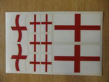 ITALIANO Bandiera Adesivi Foglio DIMENSIONI 21 CM X 14CM-George Cross Inghilterra