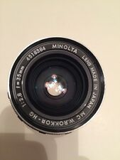Minolta MC Rokkor Vintage Lens 35mm f2.8 MD for SLR Mirrorless