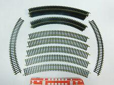 AT822-1# 20x Fleischmann Riel de modelismo H0/DC Piezas de vía: Núm 06 + 6024,