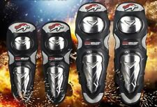 Aluminium Knee Elbow Shin Pad Armour Guard Motocross Motorcycle Bike Protection