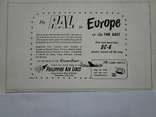 6/1953 PUB PAL PHILIPPINE AIR LINES DC-6 ORIENT STAR ORIGINAL AD