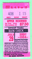 SCARCE! 1984 DETROIT TIGERS TICKET STUB-7/29/84-RED SOX-CLEMENS, RICE, BOGGS