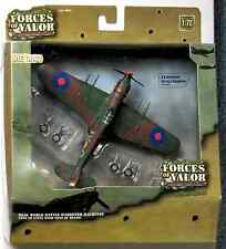 Forces of Valor Diecast 1:72 Airplane U.K. Hurricane RAF No. 1 Squadron ~ Sealed