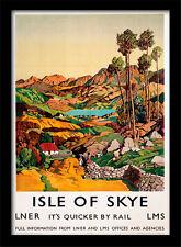 Isle of Skye LNER su más rápido por ferrocarril-Enmarcado 30 X 40 impresión oficial