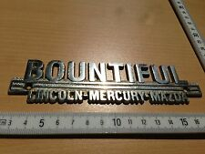 Lincoln Continental Mercury Mazda comerciantes maletero emblema fuente Bountiful