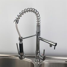 US Modern Design Chrome Finish Pull Out Kitchen Sink Mixer Tap Faucet