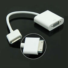 30 Pin To VGA Female Video HD Converter Adapter Cable For Apple iPad iPhone iPod