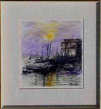 Top Gemälde Modern Boote am Hafen Adria Cargano , datiert 1962,   Wandbild  xxx