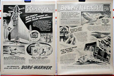 1954 two page magazine ad - Ripley's Believe It or Not - Plane lands backwards