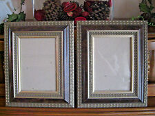 2 ORNATE PICTURE FRAMES WILL HOLD 5X7 PHOTO ART PAIR LOT