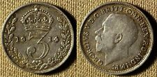Great Britain: 1914 Three Pence  XF+/AU  # 813  IR2621