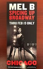 Chicago Broadway Musical Flyer Mel B Scary Spice Girls