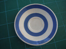 Staffordshire Ironstone Chef Ware Blue and White Saucer