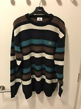 Men's Lacoste Stripe Jumper Top Size 7 fits XXL 2XL