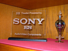 SONY ES ETCHED GLASS HOME THEATER SIGN