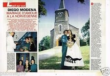 Coupure de Presse Clipping 1992 (4 pages) Mariage Diego Modena