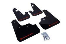 Rally Armor Mud Flaps Guards for 08-15 Lancer & Ralliart (Black w/Red Logo)