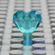 NEW Lego TRANS LIGHT BLUE HEART JEWEL -Princess Girl Friend Gem Crystal Treasure