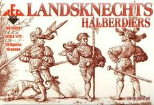 Red box 1/72 Landsknechts hallebardiers 16th siècle nº 72059