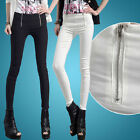 Women's OL High Waisted Skinny Pencil Zip Stretch Pants Trousers Legging OE