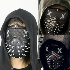 Watch Dogs 2 Dedsec Aiden Pearce Wrench Cosplay Mask Helmet Eyepatch Face Muffle