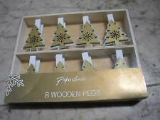 12 Pcs Cute Mini Wooden Clothe Photo Picture Paper Pegs Clips Clothes Pin Craft