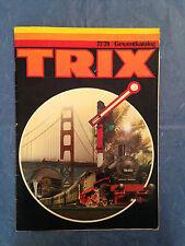 MODELLISMO FERROVIARIO CATALOGO TRIX 77/78 EDIZIONE TEDESCA