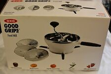 NEW Oxo Good Grips Food Mill Grinder Stainless Steel 3 Discs Non Slip Legs Folds